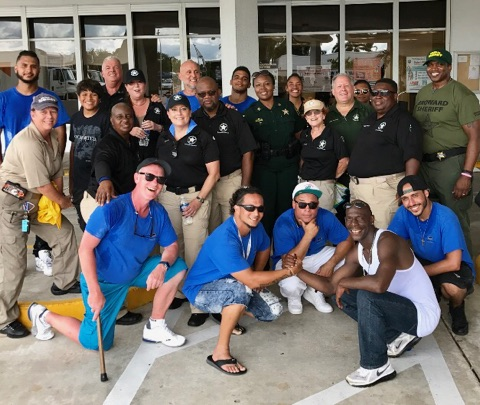 james club recovery residents with broward county sheriff's