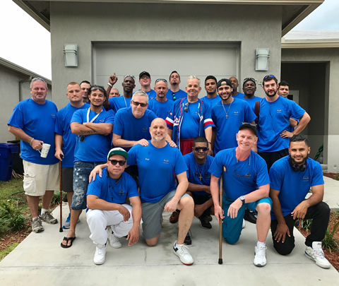 James Club Recovery Residents BLUE TEAM with Ray Rapaglia