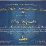 Ray Rapaglia Receives Golden Rule Award