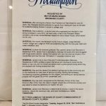 "Proclamation from Mayor Mark Bogen designating 8/20/19, ""Ray Rapaglia Day"""
